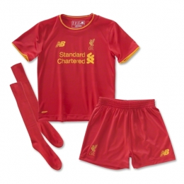 16-17 Liverpool Home Children's Jersey Whole Kit(Shirt+Short+Sock)