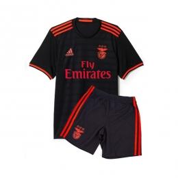 16-17 Benfica Away Black Children's Jersey Kit(Shirt+Short)