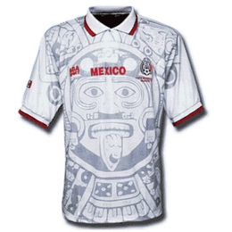 1998 Mexico Retro Away White Soccer Jersey Shirt
