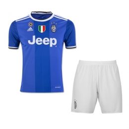 16-17 Juventus Away Blue Children's Jersey Kit(Shirt+Short)