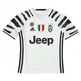 16-17 Juventus Away White Children's Jersey Kit(Shirt+Short)