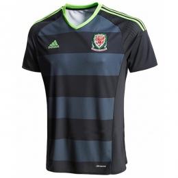 2016 Wales Away Grey&Black Soccer Jersey Shirt