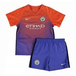 16-17 Manchester City Third Away Purple Children's Jersey Kit(Shirt+Short)