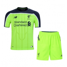 16-17 Liverpool Away Green Children's Jersey Kit(Shirt+Short)