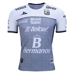 16-17 Club León Away White&Gray Jersey Shirt