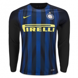 16-17 Inter Milan Home Long Sleeve Jersey Shirt