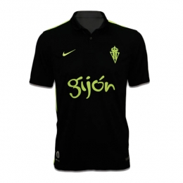 16-17 Sporting Gijón Away Black Soccer Jersey Shirt
