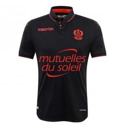 16-17 OGC Nice Away Black Soccer Jersey Shirt