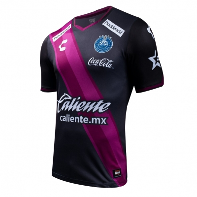 16-17 Puebla Third Away Black Soccer Jersey Shirt