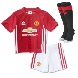 16-17 Manchester United Home Children's Whole Kit(Shirt+Short+Socks)