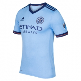 17-18 New York City Home Soccer Jersey Shirt(Player Version)