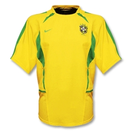 2002-2003 Brazil Home Yellow Retro Jersey Shirt