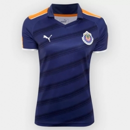 17-18 Deportivo Guadalajara Third Away Navy Women's Jersey Shirt
