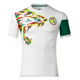 2017 Senegal Away White Soccer Jersey Shirt