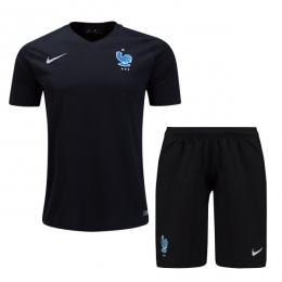2017 France Third Away Black Soccer Jersey Kit(Shirt+Short)