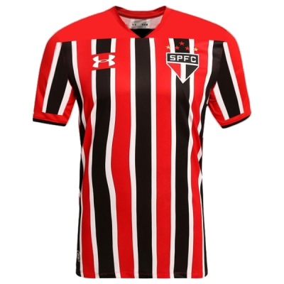 17-18 Sao Paulo FC Away Red&Black Jersey Shirt