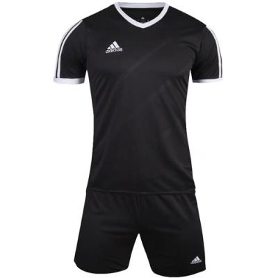 1601 Customize Team Black Soccer Jersey Kit(Shirt+Short)