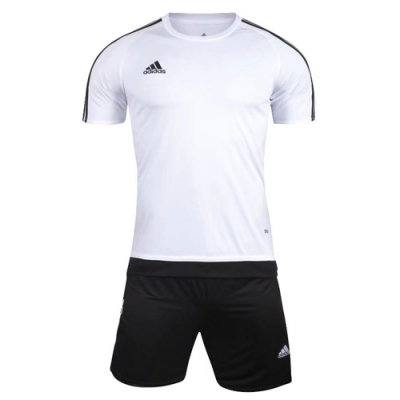 1602 Customize Team White Soccer Jersey Kit(Shirt+Short)