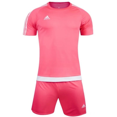 1602 Customize Team Pink Soccer Jersey Kit(Shirt+Short)