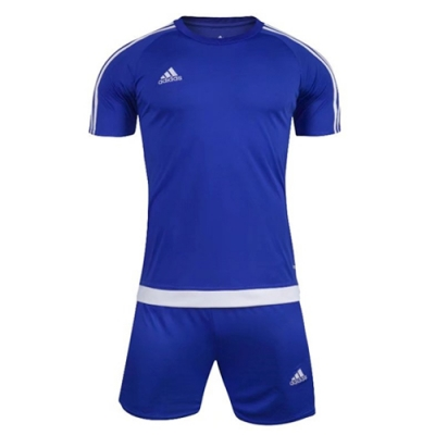 1602 Customize Team Blue Soccer Jersey Kit(Shirt+Short)
