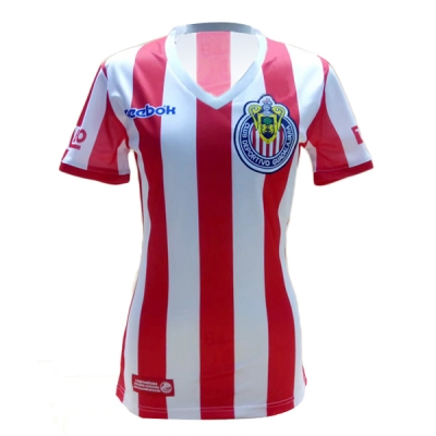 07-08 Deportivo Guadalajara Home Women's Commemorative Jersey Shirt