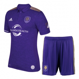 17-18 Orlando City Home Soccer Jersey Kit(Shirt+Short)
