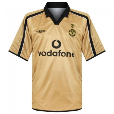 01-02 Manchester United Away Gold Centenary Jersey Shirt