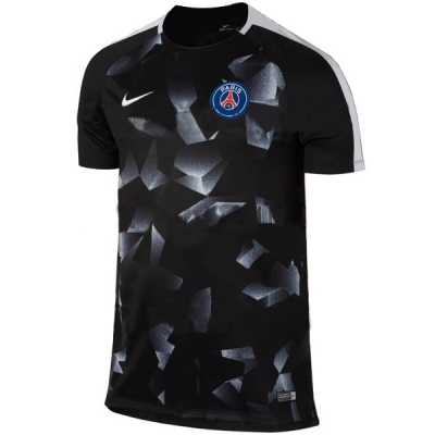 17-18 PSG Black&White Pre-MatchTraining Shirt