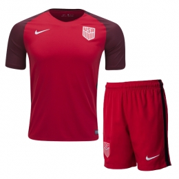 2017 USA Away Red Soccer Jersey Kit(Shirt+Short)