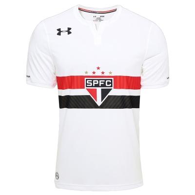 17-18 Sao Paulo Home White Soccer Jersey Shirt