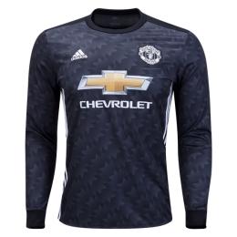17-18 Manchester United Away Black Long Sleeve Jersey Shirt