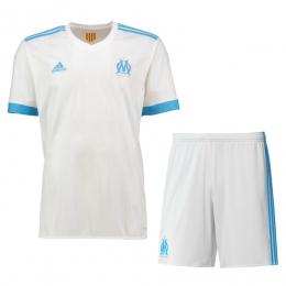 17-18 Marseilles Home White Jersey Kit(Shirt+Short)