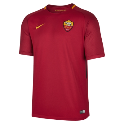 17-18 Roma Home Red Soccer Jersey Shirt
