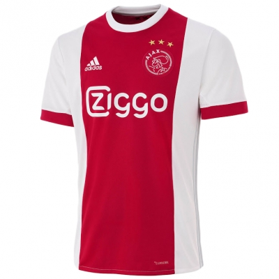 17-18 Ajax Red&White Home Soccer Jersey Shirt