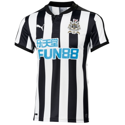 17-18 Newcastle United Home Soccer Jersey Shirt