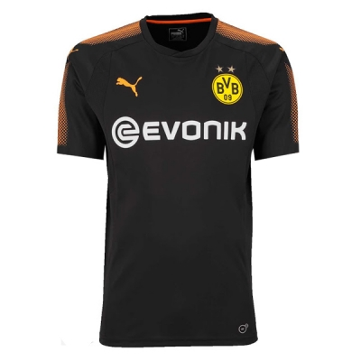 17-18 Borussia Dortmund Black Goalkeeper Soccer Jersey Shirt