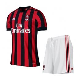 17-18 AC Milan Home Soccer Jersey Kit(Shirt+Short)