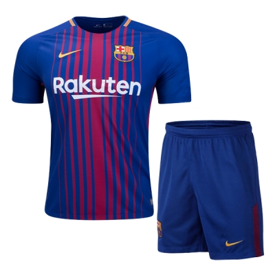 17-18 Barcelona Home Soccer Jersey Kit(Shirt+Short)