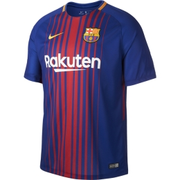 17-18 Barcelona Home Soccer Jersey Shirt(Player Version)
