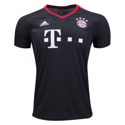 17-18 Bayern Munich Black Goalkeeper Soccer Jersey Shirt