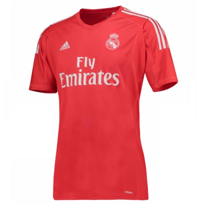 17-18 Real Madrid Goalkeeper Red Jersey Shirt