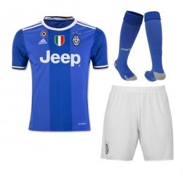 16-17 Juventus Away Blue Children's Jersey Whole Kit(Shirt+Short+Sock)