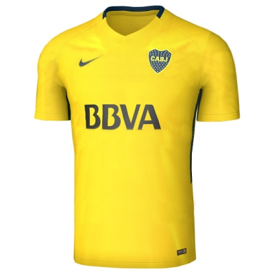 17-18 Boca Juniors Away Yellow Soccer Jersey Shirt