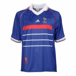 1998 France Retro Home Blue Soccer Jersey Shirt