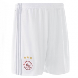 17-18 Ajax White Home Soccer Jersey Short
