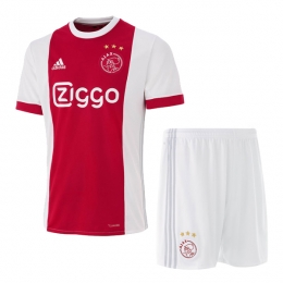 17-18 Ajax Home Soccer Jersey Kit (Shit+Short)