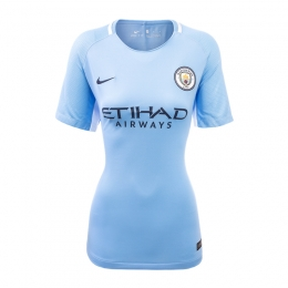 17-18 Manchester City Home Women's Jersey Shirt