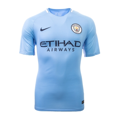17-18 Manchester City Home Soccer Jersey Shirt