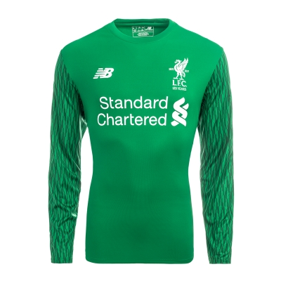 17-18 Liverpool Goalkeeper Green Long Green Jersey Shirt