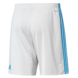 17-18 Marseilles Home White Soccer Jersey Short